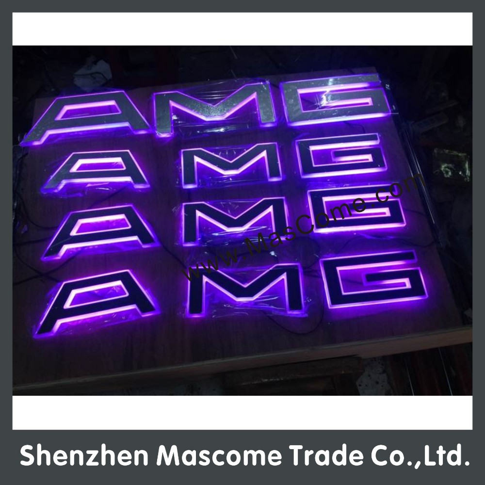 Small Size Led Neon Light Up Plastic Sign Letters