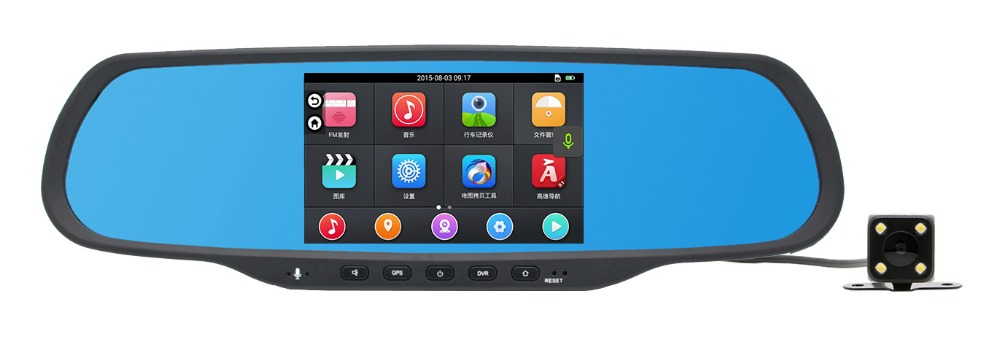 Newest All winner A33 1 megapixels, 120 degree full hd 1080P with FM Android car dvr gps dual camera