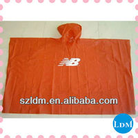 0.025mm rain poncho orange