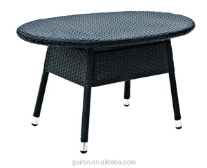 oval rattan table metal furniture