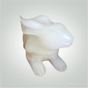 Natural Jade Rabbit Carving Craft