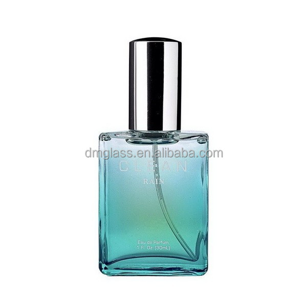 30ml glass material perfume industrial use square glass perfume bottle with mist sprayer