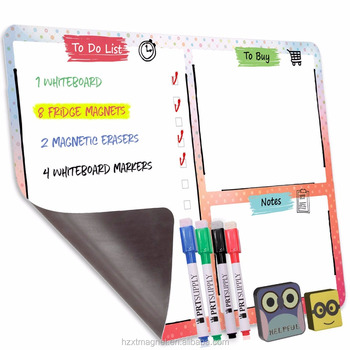 WhiteBoard Do List Magnet Dry Erase Board With 3 Markers For Kitchen  Magnetic Fridge Planner