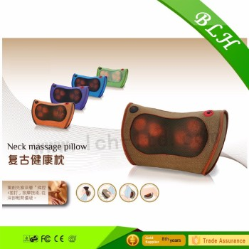 Shitsu massage pillow cushion relieve fatigue massage neck pillow heat best for waist neck pain relief