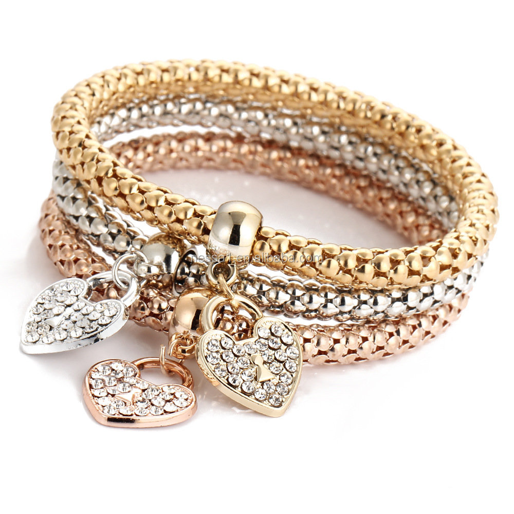 Fashion Heart Fancy Gold Hand Chain Bracelet Design For S Whole Hs 0009