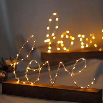 C265 Love Letter Model with Light Shop Decoration Crafts Furnishing Star Light Birthday Decoration Home Decor