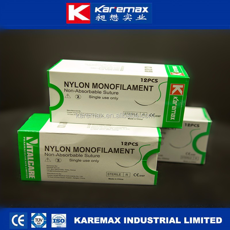 non absorable surgical suture nylon thread with picture FDA CE ISO