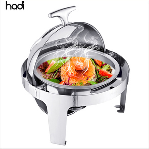 China HADI catering local company sample food warmers round steel buffet chafing dish cheap