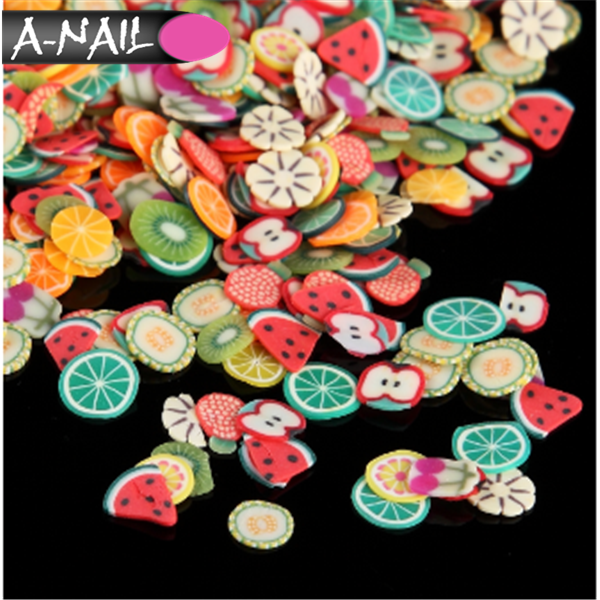 2017 New Arrival Hot Sale Japanese Stylish Flower Nail Slice Mixed Design Colorful Polymer Clay Fimo
