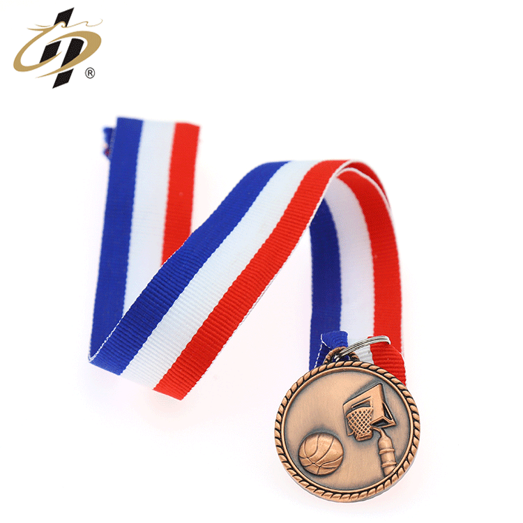 Wholesale heap custom 3d red bronze sports medallions blank medals