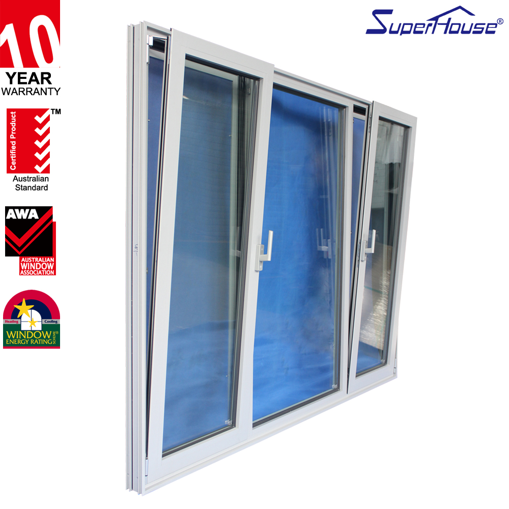 USA Standard casement windows aluminum frame double glass tilt turn aluminum window
