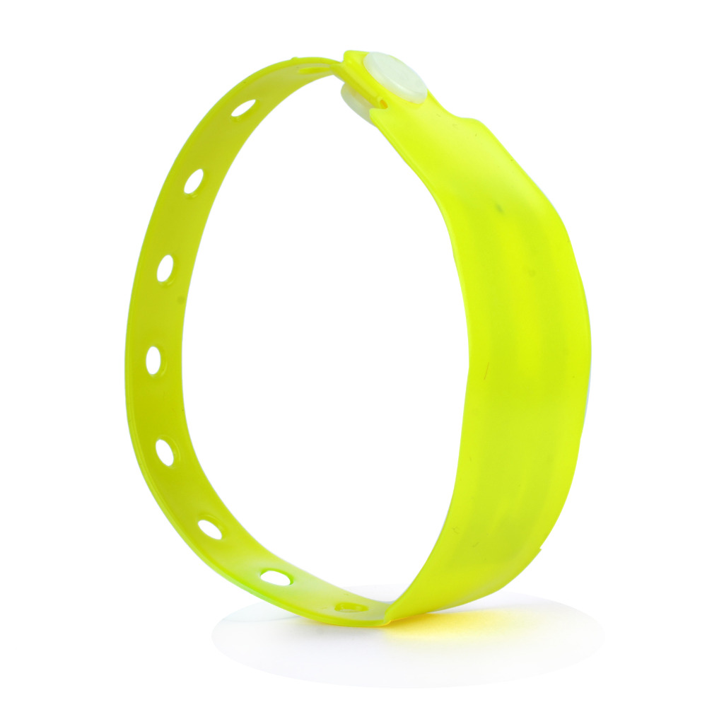 one time use Disposable PVC wristband EM4200 chip with more colors