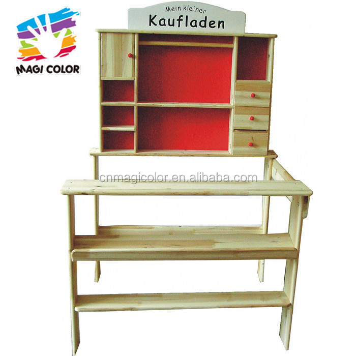 Wholesale new fashion role play wooden grocery store toy for children W10A047