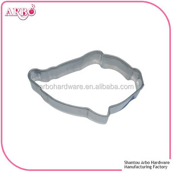 Fda lfgb certificated fish shape cookie biscuit cake for Fish shaped cookie cutters
