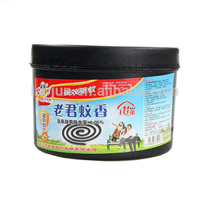 LAOJUN high quality low smoke black mosquito repellent incense coil for Egypt Market