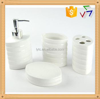 hot sale white ceramic bathroom setbathroom accessories set - White Bathroom Accessories Ceramic