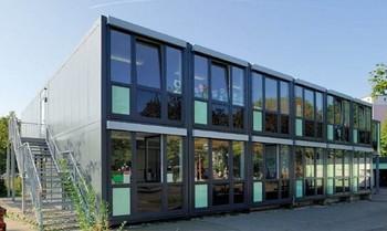 Steel frame pu eps glass wool panel mobile modular prefab for Prefab glass house prices