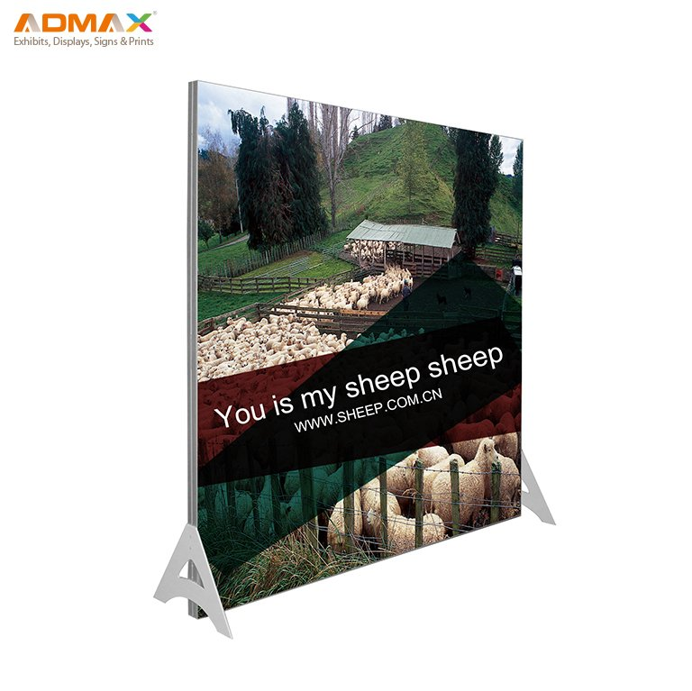 Fabric tension display stands seg frame