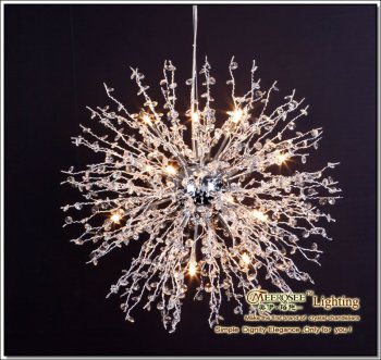 Meerosee clear dandelion crystal pendant light md1107 12w buy meerosee clear dandelion crystal pendant light md1107 12w aloadofball