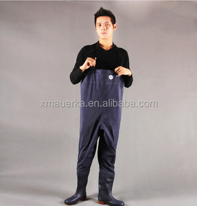 Fishing waterproof pvc wader rubber fabric chest wader