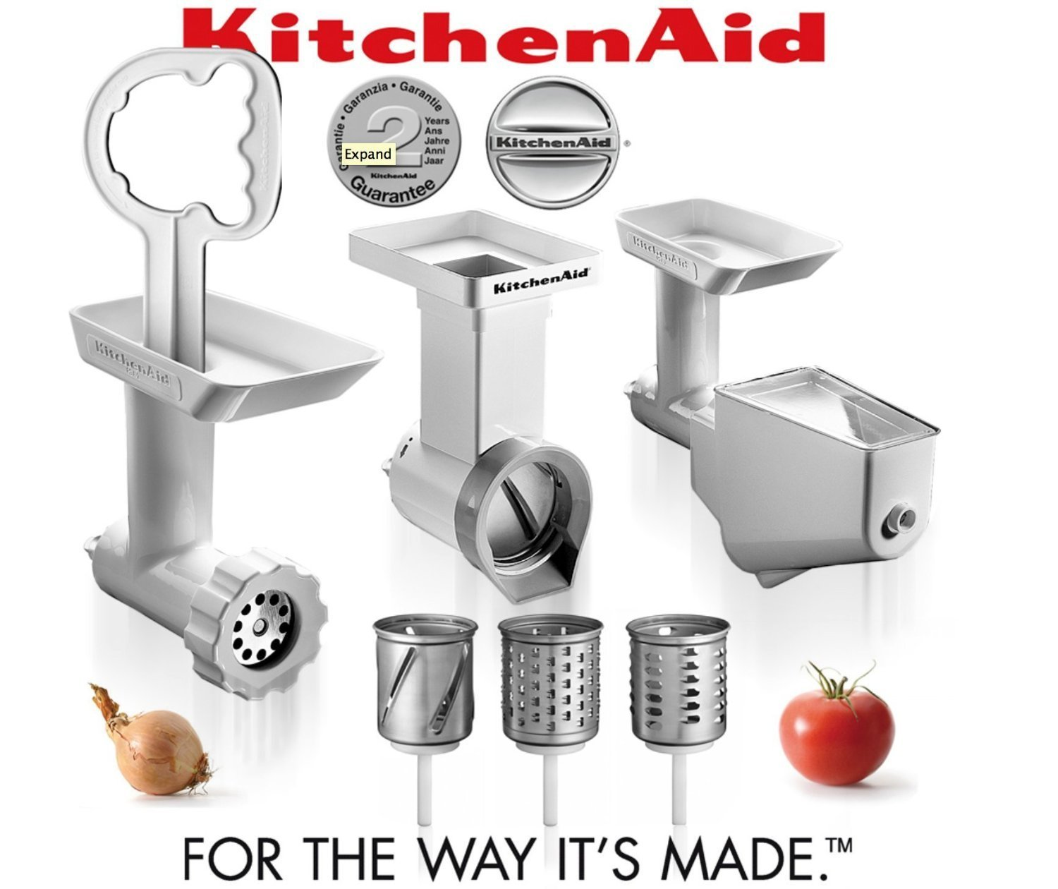 Admirable Buy Kitchenaid Fppc Mixer Attachment Pack Grinder Mincer Beutiful Home Inspiration Cosmmahrainfo