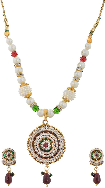 Handicraft Kottage Women's Fashion Jewelry White Metal Necklace (HK-ANMG207)