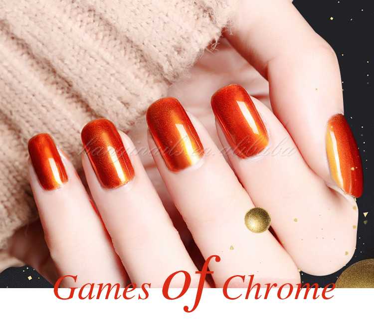 mirror chrome esmaltes gel metallic nail polish gel from China