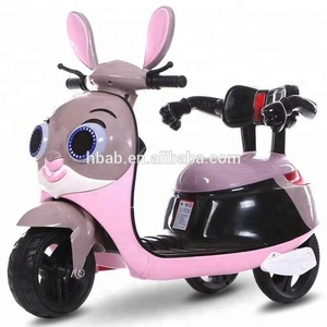 new model rabbit kids motorcycle/children electric ride on toys with mp3 port/12v electric ride on toys