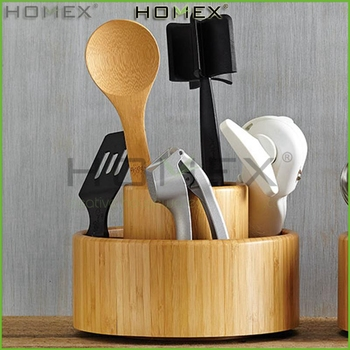 bamboo utensil organizer box kitchen utensil holder homex - Kitchen Utensil Organizer