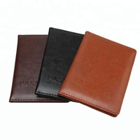 High Quality Cheap Personalized PU Leather Passport Holder