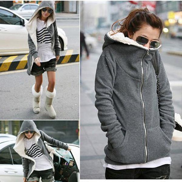 248d3fa54 Detail Feedback Questions about Winter Warm Women Fleece Sweatshirt ...