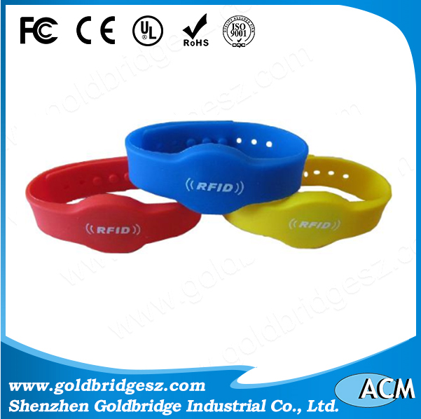 China factory Fabric One Time Passive Rfid Wristband