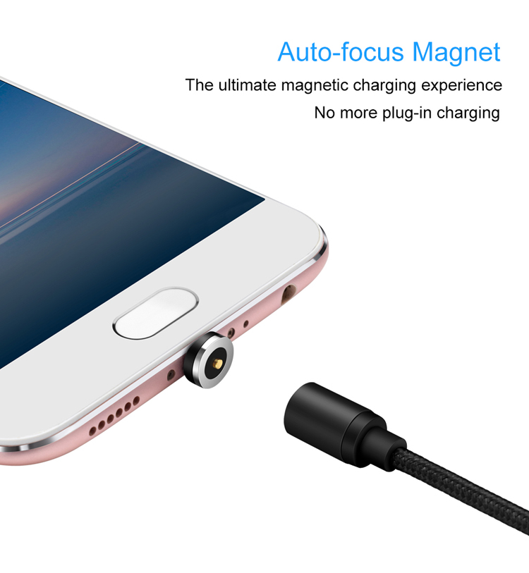 Fast Magnetic 3 in 1 Cable Micro USB Type C Charger Charging For iPhone XS X XR 8 Magnet Android Phone Cable Cord