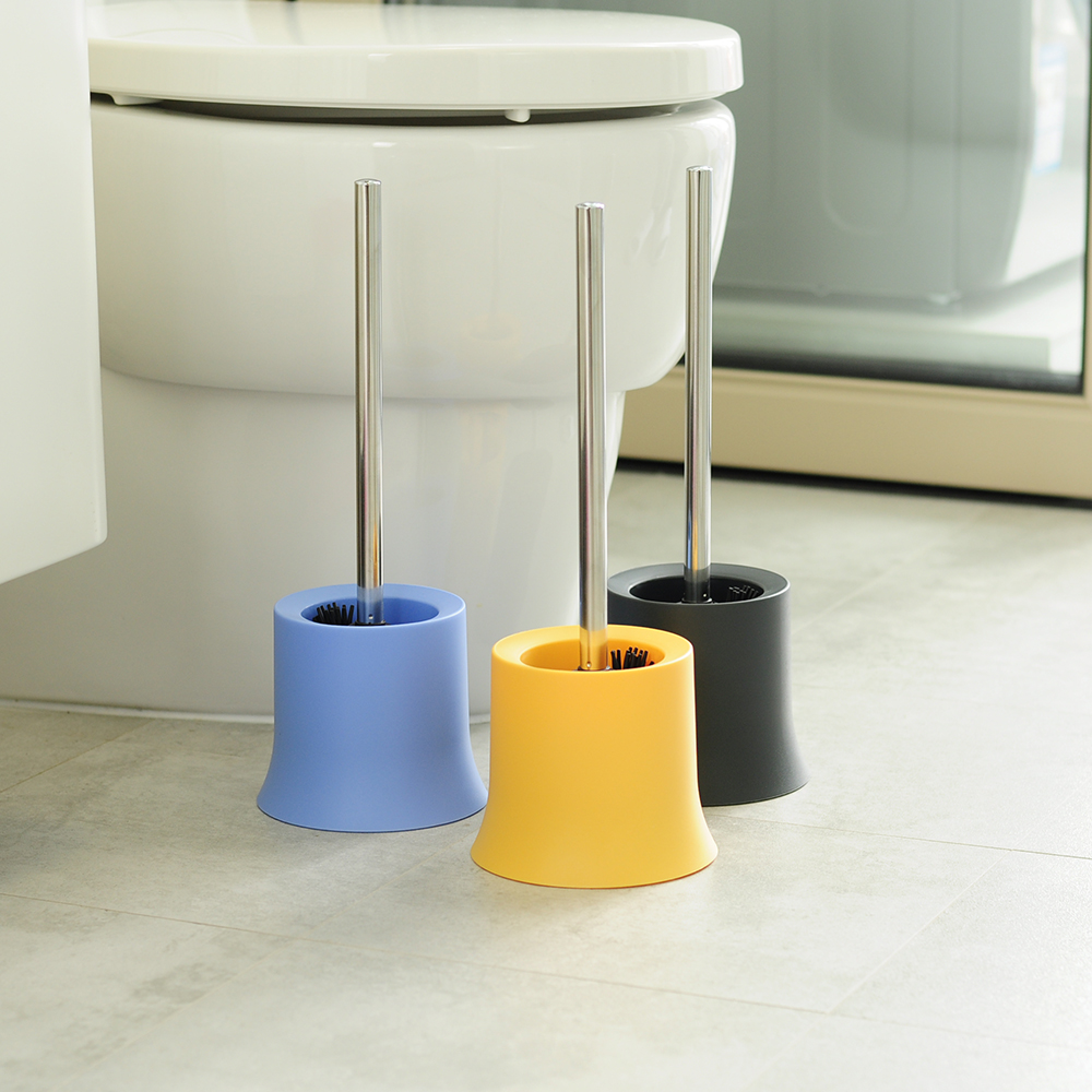 TPR soft long handle metal wc bath toilet brush with toilet brush holder