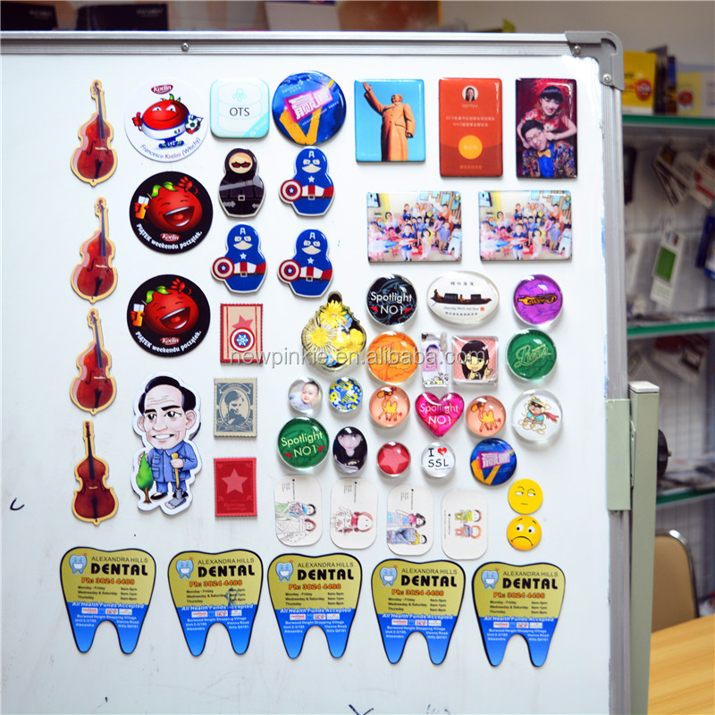China high quality promotional home decor round flexible 3d magnet fridge