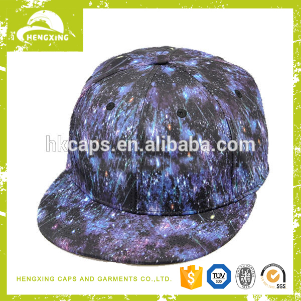 Custom Hengxing Design Your Own 5 Panel Hat Cap-All Over Sublimated Sky Print