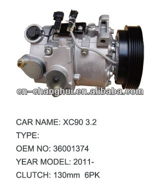 Auto A/C Compressor For VOLVO XC90 3.2 36001374 30722087 31250606 36002105 36002422