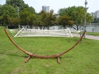 Wooden Roman Arc Hammock Chair Stand