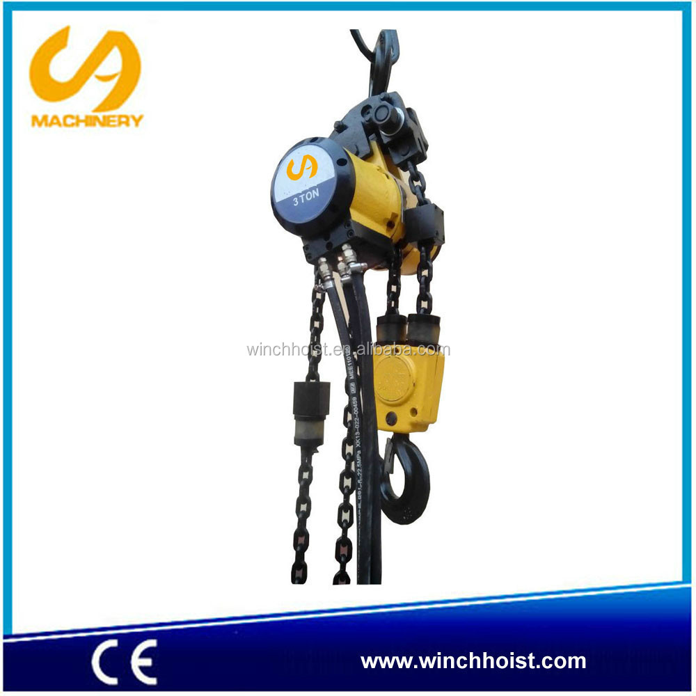 air chain hoist 3 ton, double chain QN3.0S