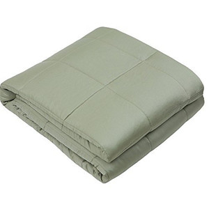 Trigger Your Brain to Produce Serotonin to Naturally Improve Mood and Relaxation Light Olive Weighted Blanket