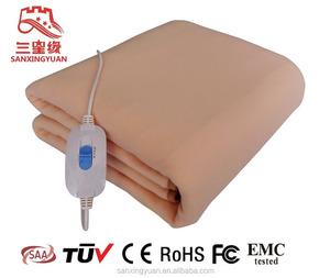 100% polyester soft fleece single size electric heating blanket