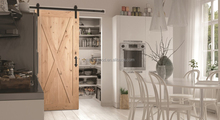 Full X Traditional Solid Wood Interior Sliding Barn Door Panels