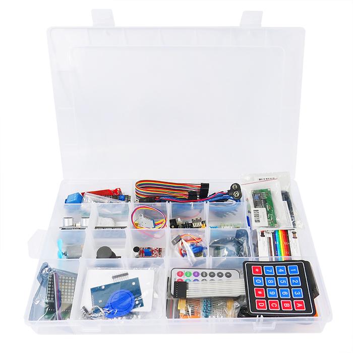 K02 Kompatibel Uno R3 Starter Kit Elektronik Kit dengan Pelajaran CD Robotics Kit untuk Anak-anak Sekolah Pendidikan