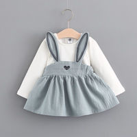 rabbit dress baby clothes sets summer baby clothes