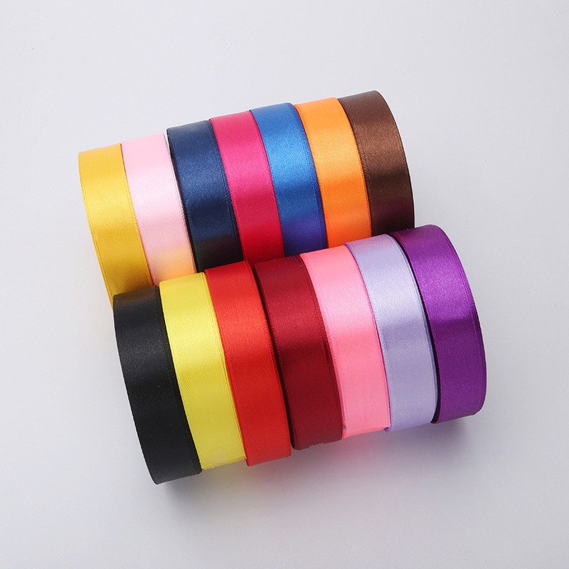China suppliers handmade flowers 4 inch polyester satin ribbon for crafts