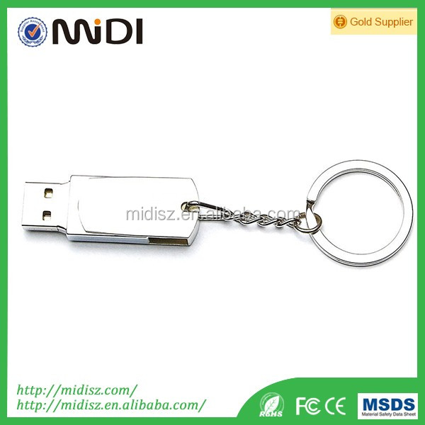 New Waterproof Silver Metal Keychain USB Flash Drive 2gb-32gb with real capacity