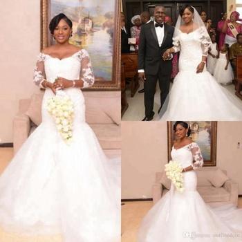 ce613426683 H013 Plus Size Custom Factory Price White Made Long Formal Mermaid Patterns  Ladies Bridal Dresses Wedding