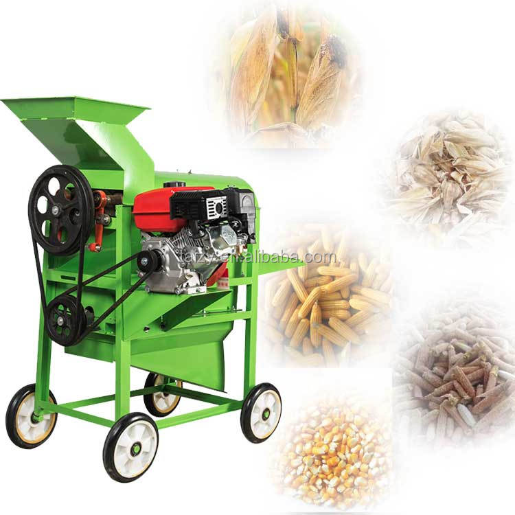 High quality mobile motor driven corn husker and sheller machine