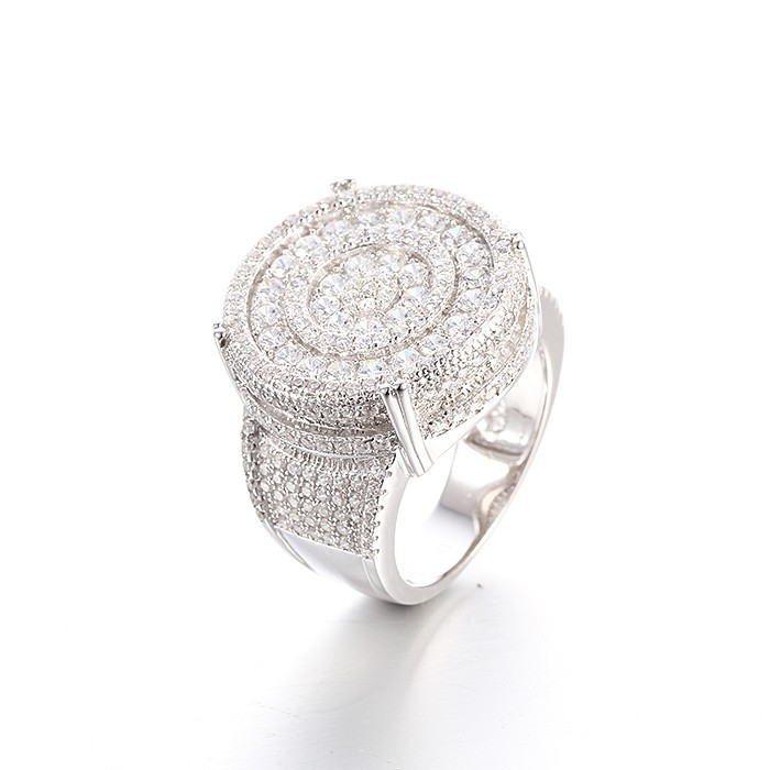 Aaa Cubic Zirconia 925 Silver Price Per Gram Men S Ring Gift For Father Day Lwr0347