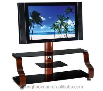 Dise o simple estante tv soporte tv de plasma de cristal - Mesas de television de plasma ...